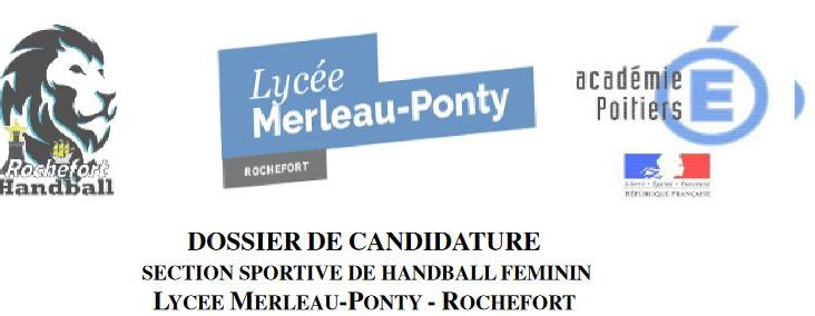 section sportive candidature